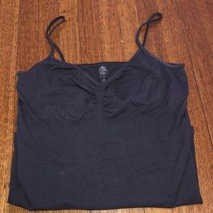 Stretchy dark grey tank top